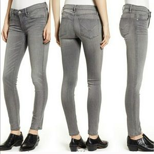 Light Grey Nico mid rise ankle skinny jeans